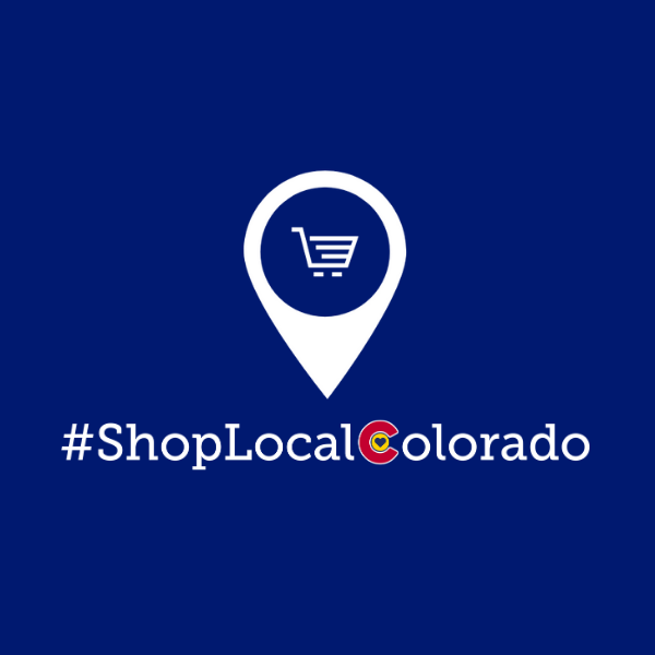 a pinpoint shop graphic with the text #ShopLocalColorado